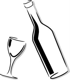 simple bottle & glass