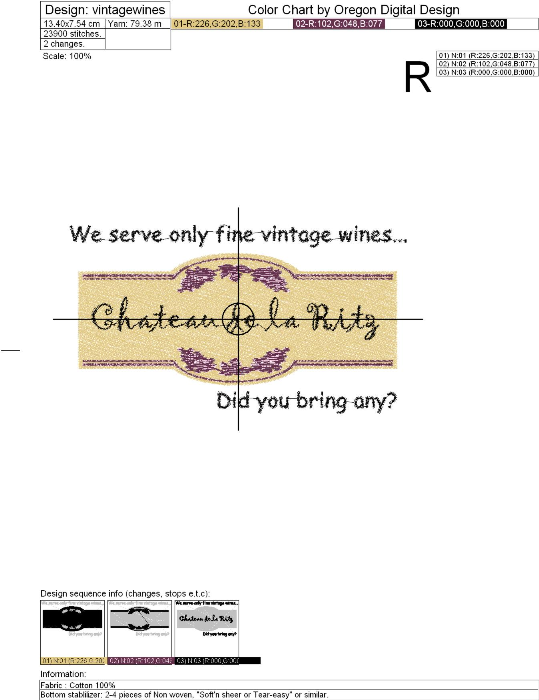 Third Additional product image for - Vintage Wine Label