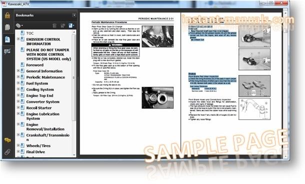 Kawasaki Teryx Service Manual Free Download