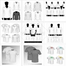 Shirt collection 03. T-shirt, polo shirt and hooded sweatshirt templates - only $17.95! (reg. $40)