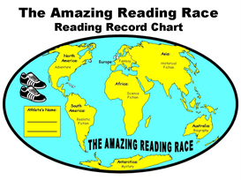 The Amazing Reading Race Reading Record Chart | Other Files | Documents and Forms