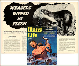 The WEASELS RIPPED MY FLESH story from Man's Life, Sept. 1956 | eBooks | Horror