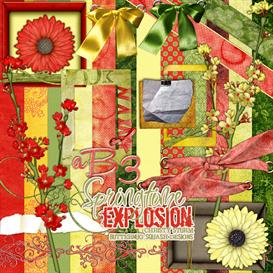Springtime Explosion Digital Scrapbook Kit | Crafting | Paper Crafting | Other