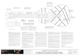 0-28VS 12-Fret Acoustic Guitar Plans | Other Files | Patterns and Templates