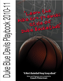 "duke blue devils playbook ""learn the mike krzyzewski style of duke basketball"""