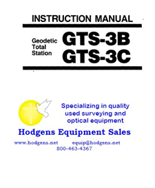 Topcon Instruction Manual for Geodetic Total Station GTS-3B/3C | Documents and Forms | Manuals