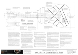 00-28VS 12-Fret Acoustic Guitar Plans | Other Files | Patterns and Templates