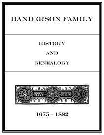 Handerson Family History and Genealogy | eBooks | History