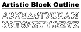 GreekHouse Artistic Block Outline | Other Files | Fonts