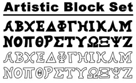 GreekHouse Artistic Block Set | Other Files | Fonts