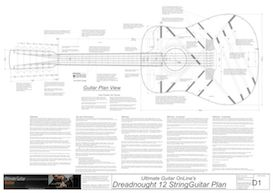 Dreadnought 12-String Guitar Plans | Other Files | Patterns and Templates