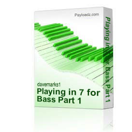 Playing in 7 for Bass Part 1 | Music | Backing tracks