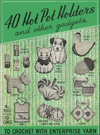 40 hot pot holders and other gadgets - crochet pattern ebook