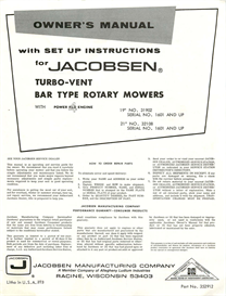Jacobsen Turbo-Vent Bar Type Rotary Mower Manual | Documents and Forms | Manuals