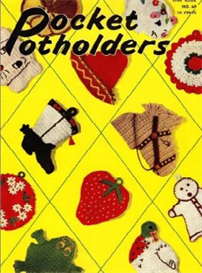 pocket pot holders book 69 - crochet pattern ebook