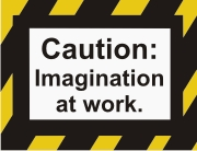 Caution - Imagination at work machine embroidery file | Crafting | Sewing | Baby and Child