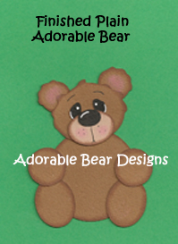 Simply Adorable Bear SVG tear bear paper piecing Pattern Download