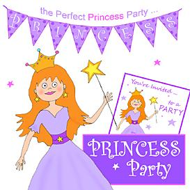 Princess Party Printables- Purple Princess | Other Files | Patterns and Templates