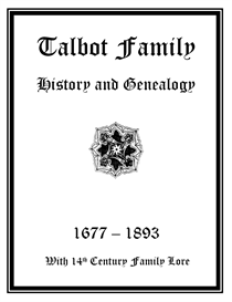 Talbot Family History and Genealogy | eBooks | History