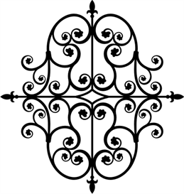 Iron Ornament 2 -All Sizes | Other Files | Patterns and Templates