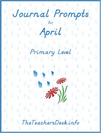 Journal Prompts for Primary - April | eBooks | Education