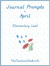 Journal Prompts for Elementary - April | eBooks | Education