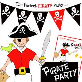Download the Templates Documents and Forms | Pirate Birthday Party Pack- Black and Red Pirate