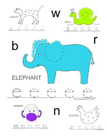 Alphabet Tracing Printable Workbook Lowercase Letters