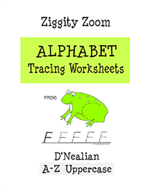 Alphabet Tracing Printable Workbook D'Nealian Uppercase Letters