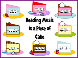 reading music is a piece of cake bulletin board kit
