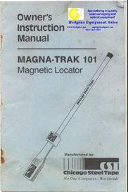 CST Magna-Trak 101 Owner Instruction Manual | Other Files | Documents and Forms