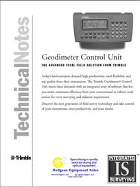Geodimeter Control Unit Technical Notes | Documents and Forms | Building and Construction