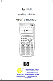 hp 48g-ii graphing calculator user's guide