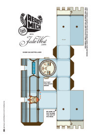 adobe illustrator ai file paper craft pattern flatpack toy free