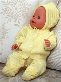 DollKnittingPattern - 0057D-HANNA  Baby Jacket, Bonnet, Pant and Socks | Crafting | Knitting | Baby and Child
