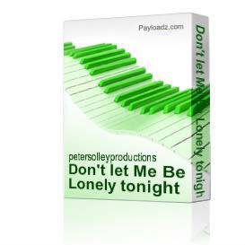 Don't let Me Be Lonely tonight | Music | Backing tracks