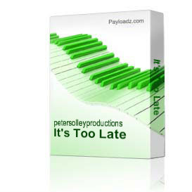 It's Too Late | Music | Backing tracks