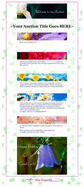 Spring Flowers Ebay Template by SCTRADEKAT | Other Files | Patterns and Templates
