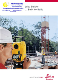 Leica Builder Series Electronic Theodolite Brochure 6 pages | Documents and Forms | Building and Construction