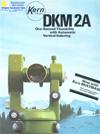Kern DKM 2A Theodolite Brochure | Documents and Forms | Building and Construction