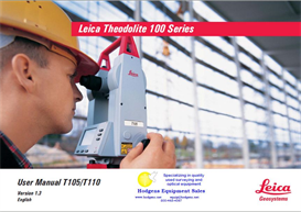 Leica Theodolite 100 Series User Manual & Quick Start - 68 Pages | Documents and Forms | Manuals