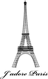 J'adore Paris - 3 sizes - machine embroidery file | Crafting | Sewing | Gifts