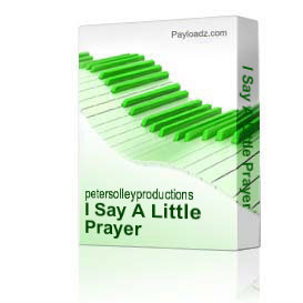 I Say A Little Prayer | Music | Backing tracks