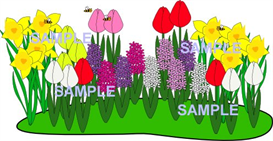 spring flower patch clipart download