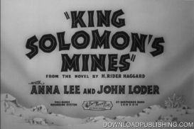 King Solomons Mines - 1937 Movie Action Adventure Download .Mpeg | Movies and Videos | Action