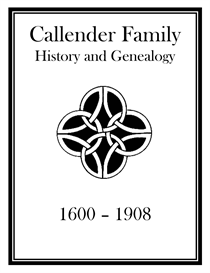 Callender Family History and Genealogy | eBooks | History