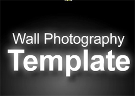 wall photography template with integrated paypal cart