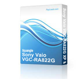 Sony Vaio VGC-RA822G XP MCE drivers restore disk recovery cd driver download exe | Software | Utilities