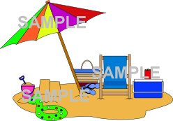 beach scene clipart download