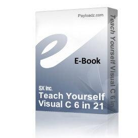 teach yourself visual c 6 in 21 days